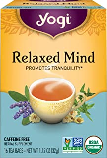 Yogi Tea - Relaxed Mind (4 Pack) - Promotes Tranquility - 64 Tea Bags