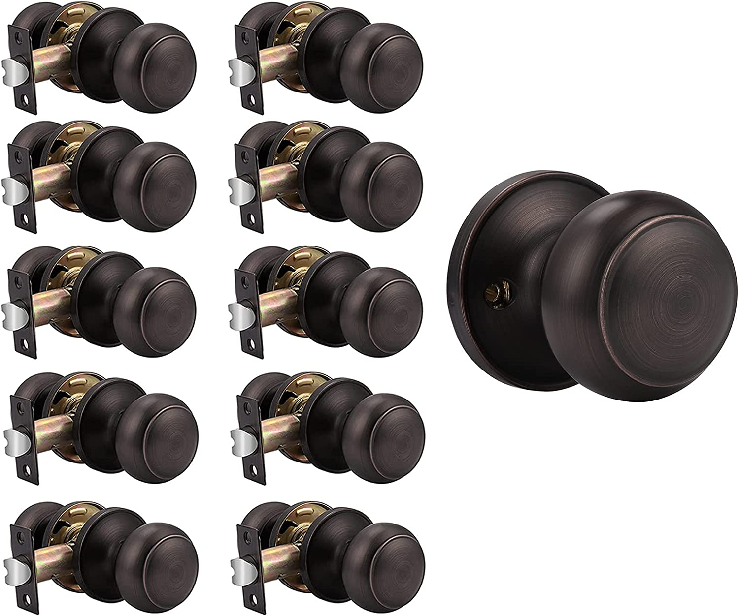 store Probrico 10 Pack Passage Door 1 Dedication Dummy Knobs Kno and