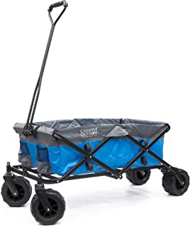 Creative Outdoor Distributor 900231-Blue/Grey All Terrain Folding Wagon, Blue/Grey