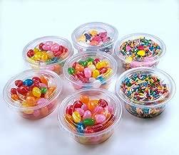 TashiBox 3.25oz-120 Sets Jello Shot Disposable Plastic Lids/Portion Souffle Cups, 3.25oz, Clear
