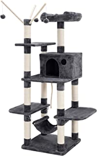 FEANDREA Árbol para Gatos, Rascador de Gatos, Color Antracita PCT86G
