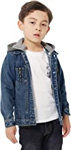 Boys Jean Jacket Removable Hooded Toddler Kids Girls Denim Jacket Button Coat Top Outwear