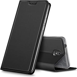 KuGi Nokia 2.1 Case, Premium Flip Case Cover for Nokia 2.1, Black