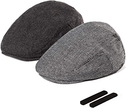 e97720e8 LADYBRO Men Newsboy Cap Ivy Hat - 30% Wool Cabbie Hats for Men Irish Tweed