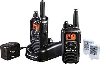 Midland - LXT600VP3, 36 Channel FRS Two-Way Radio - Up to 30 Mile Range Walkie Talkie, 121 Privacy Codes, NOAA Weather Scan + Alert (Pair Pack) (Black)