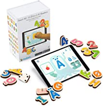 Marbotic - Smart Kit Nordic Edition for iPad & Samsung Tablets - Ages 3-5 - Interactive Wooden Numbers and Letters Set - H...