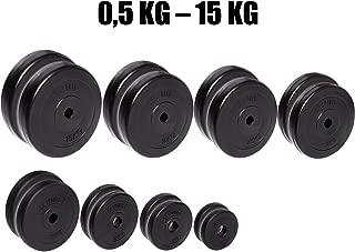 con Orificio de 30 mm Sports de Entre 0,5 kg y 15 kg Par de Discos de Pesas C.P 5 KG Paar