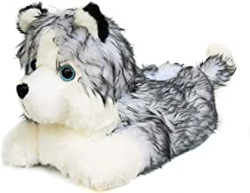 Onmygogo Fuzzy Winter Animal Husky House Slippers for Men and Women