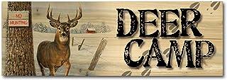 WGI-GALLERY 248 Deer Camp No Hunting Wooden Wall Art