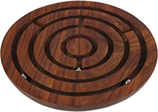 ShalinIndia Game Labyrinth, Ball-in-a-Maze Puzzles, Handcrafted in India - Round