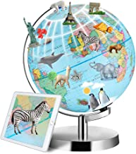 3 in 1 Interactive Smart Globe, DIPPER 9 Inch World Globe for Kids Learning, LED Illuminated, AR Educational Globes of The...