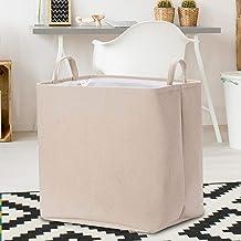 Rectangular Storage Bin,Canvas Fabric Storage Basket,Foldable Toy Storage Organizer,Waterproof Nursery Hamper for Kids Toy...