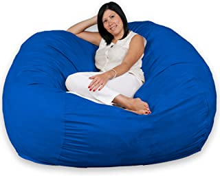 FUGU Large Bean Bag Chair, Premium Foam Filled 5 XL, Protective Liner Plus Removable Machine Wash Royal Blue Cover