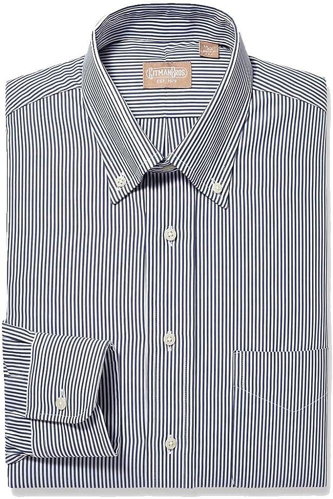 EZ All items free shipping Tuxedo Gitman Button Down Chicago Mall Dress Bengal Stripe Shirt