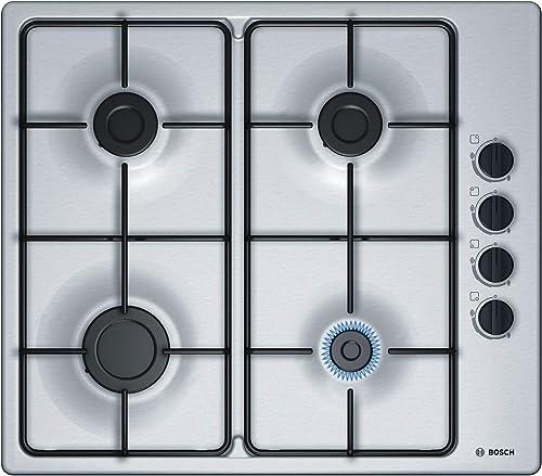 Bosch Electroménager PBP6B5B80 Plaque à gaz Série 2 - Plaque de cuisson encastrable 4 foyers - 60 cm - Puissance 7400...
