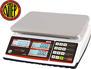 VisionTechShop TVP-12B Price Computing Scale, Lb/Oz/Kg Switchable, 12lb Capacity, 0.002lb Readability, NTEP Legal for Trade