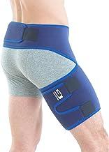 Neo G Groin Brace - پشتیبانی از درد مفصلی، کشاله ران، درد عصبی سیاتیک، هیپ، ران، ضایعات همسترینگ، بازیابی و توانبخشی - بسته بندی فشرده قابل تنظیم - دستگاه پزشکی کلاس 1 - یک اندازه - آبی