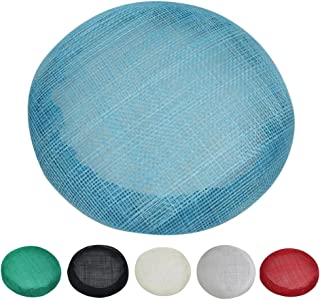 Baoblaze Round Hat Base Sinamay Bowler Derby Accessories for Fascinators Hats Craft Use