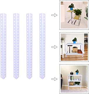 QLLY Heavy Duty Storage Shelf Frame, Metal Organizer Rack Angle Bar, 1.5mm Thick Cold-Rolled Steel for Garage Kitchen Living Room Bedroom Office DIY Shelving (400mm, White)