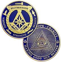 Masonic Challenge Coin Blue Lodge Gold Blue Freemasonry Coin