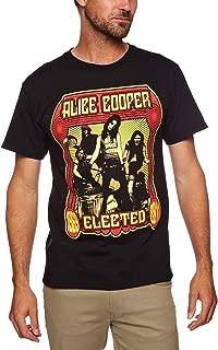 Alice Cooper Men Elected Band Short Sleeve T-shirt, Black, X-large