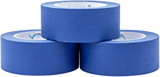 3 Pack 1.88 Inch Blue Painters Tape, Medium Adhesive That Sticks Well but Leaves No Residue Behind, 60 Yards Length, 3 Rol...