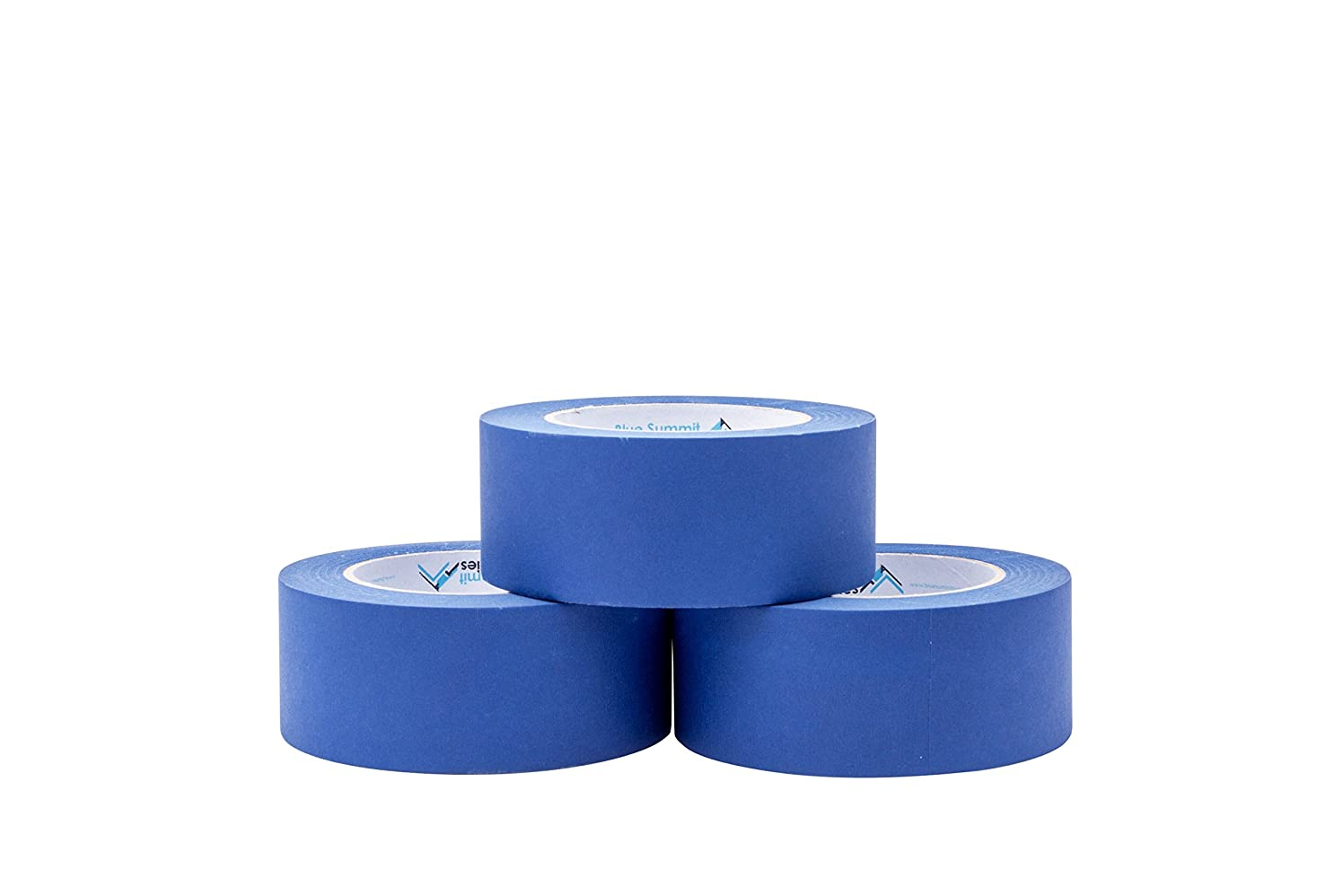 3 Pack 1.88'' Blue Painters Tape, Medium Adhesive That Sticks Well but Leaves no Residue Behind, 60 Yards Length, 3 Rolls, 180 Total Yards