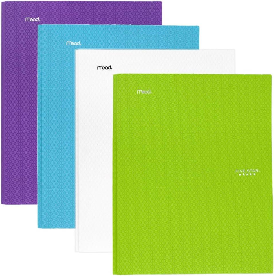 Five shop Star 2-Pocket Folder Topics on TV Fold Colored Plastic Stay-Put