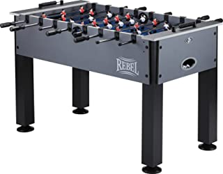 Fat Cat by GLD Products Rebel 4.5' Foosball Table with Easy Snap Rods for Quick Assembly, and Sharp Blue Playing Field and Abacus Scoring, One Size