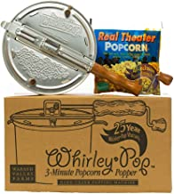 Wabash Valley Farms Red Whirley Pop Stovetop Popcorn Popper - Perfect Popcorn in 3 Minutes for Family Movie Night and More...