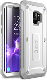 SUPCASE Unicorn Beetle Pro Series Case Designed for Galaxy S9, with Built-in Screen Protector Full-Body Rugged Holster Case for Galaxy S9 (2018 Release) (White)