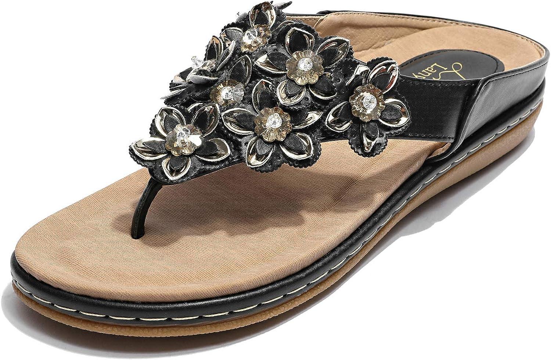 Lanyani Women's Comfortable Flip Thong Blossom 40% OFF Cheap Sale Sandals Finally resale start Flop
