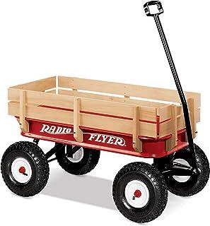 Radio Flyer 32 All-Terrain Steel and Wood Wagon 1 Red