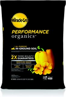 Miracle-Gro Performance Organics All Purpose In-Ground Soil, 1.3 cu. ft. - Organic, All Natural Plant Soil - Feed for up to 3 Months - All-Purpose Formula for Vegetables, Flowers and Herbs