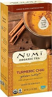 Numi Organic Tea Golden Latte, Turmeric Chai, 24 Count