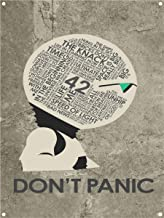 Hitchhiker's Guide to The Galaxy, Don't Panic Metal Art Print by Stephen Poon (9