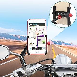 comprar comparacion Soporte Móvil Moto Aluminio 360° Rotación Soporte Movil Scooter Soporte Telefono para Moto Motocicleta, Universal Soporte ...