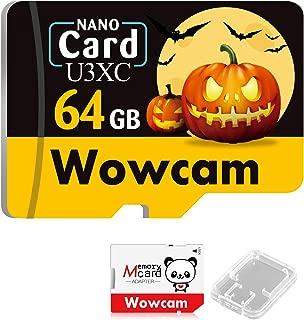 Wowcam ハロウィン限定 sdカード マイクロsd 64GB Class10 UHS-I対応 高速 メモリカード SD変換アダプター付き メモリカードケース付属 動作確認済