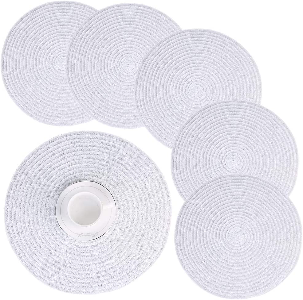 DACHUI Ranking TOP10 Superior Round Braided Placemats Washable 6 of Set