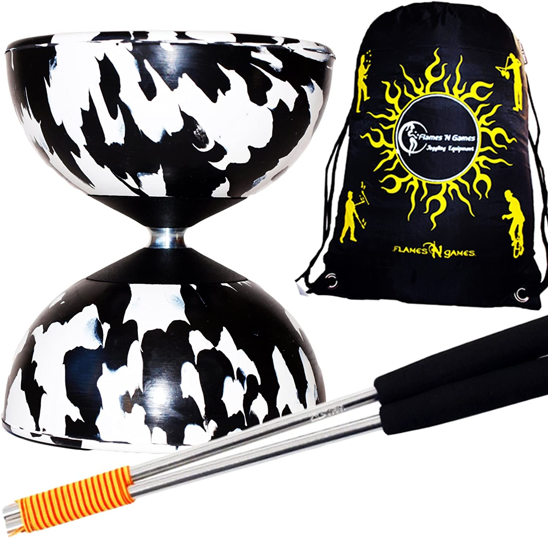 Diabolos Travel Bag. Mr Babache Harlequin Pro Diabolo Set /& Aluminium Diabolo Sticks Diablo String