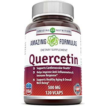 Amazing Formulas - Quercetin 500 Mg, 120 VCaps(Vegetarian Capsules) (Non-GMO,Gluten Free, Vegan) * Supports Cardiovascular Health, Helps Improve Anti-Inflammatory & Immune Response,