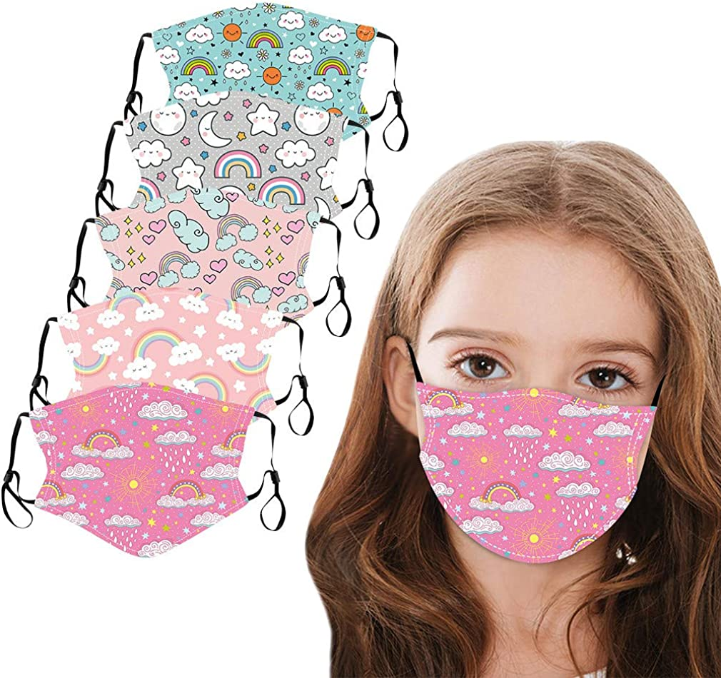 SUGUJU 5PC Cute Printed Children's Gorgeous Windproof Reusable Adjustable Very popular