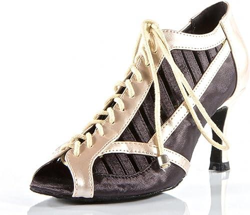 YFF Cadeaux Femmes Dance Danse Danse Latine Dance Tango Chaussures 8cm,noir,42