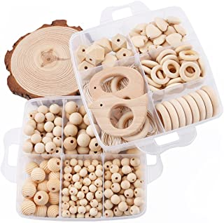 Baby Love Home Wooden Teether DIY Accessories Nursing Jewelry Kit Nature Wooden Organic Baby Teething Ball Mom's Popular