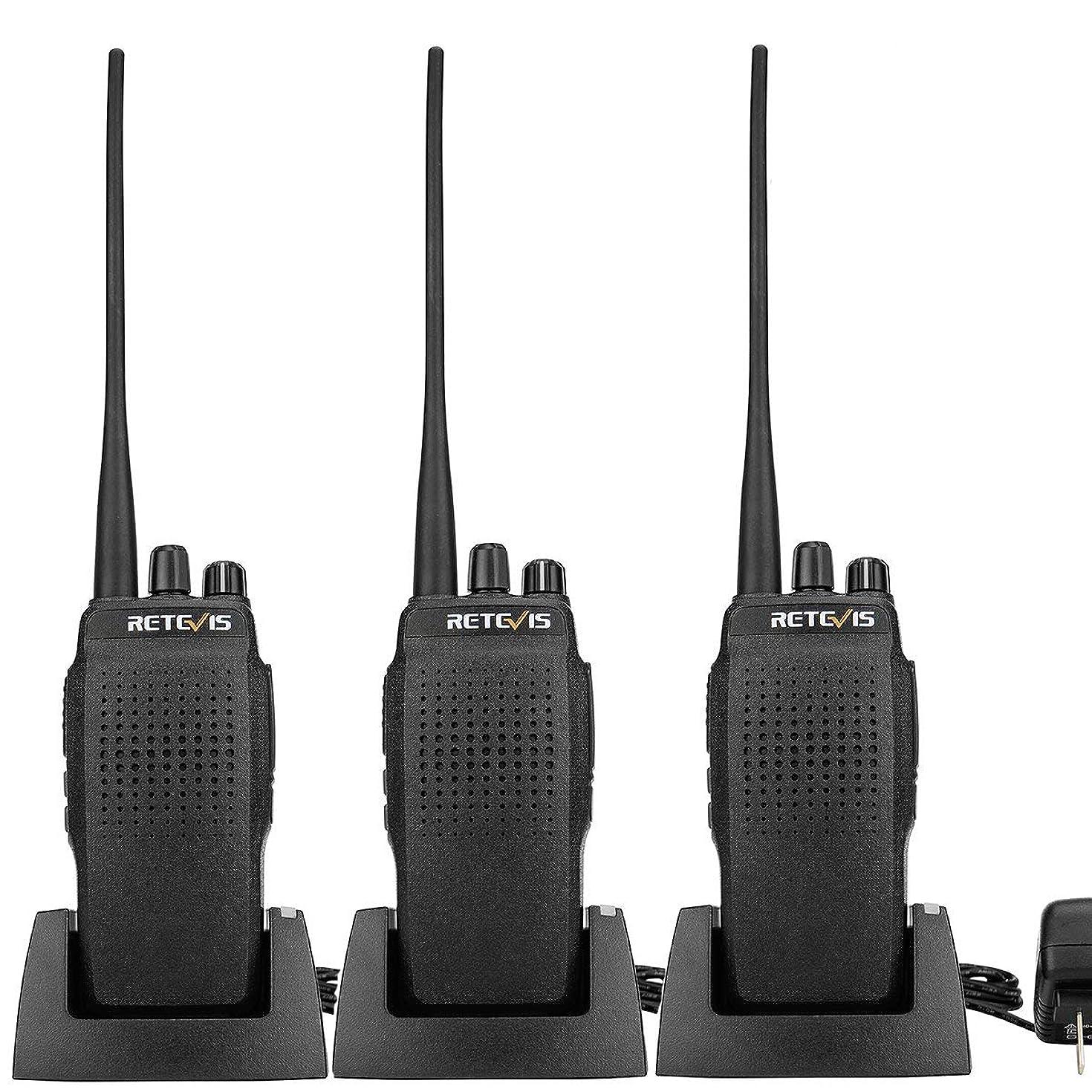 Retevis RT26 Two Way Radios High Power 3000 mAh Walkie Talkie UHF Long Range Sturdy Police Radio Hands Free Scan Handheld Transceiver(3 Pack)