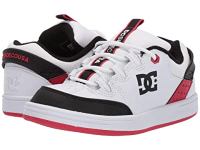 DC Kids Syntax (Little Kid/Big Kid) (White/Black/Athletic Red) Boys Shoes