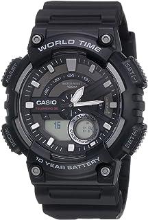 Casio Digital Men's Dial Silicone Band Watch - AEQ-110W-1AVDF