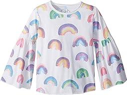 Super Soft Vintage Jersey Rainbow Flared Sleeve Tee  (Little Kids/Big Kids)