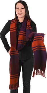elope Dr. Who Fourth Doctor Deluxe Purple Knit Scarf 12'