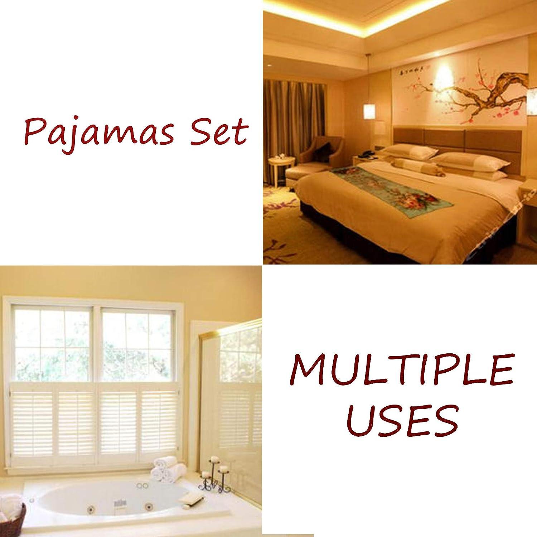 Top And Pants Soft Sleepwear Lounge Set Light Grey Xl